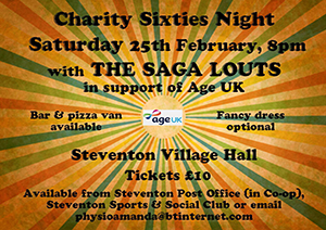 charity 60's night