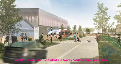 artist impression didcot station gateway south