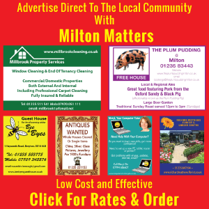 Advertise In Milton Matters