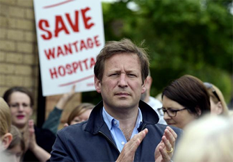 ed vaisey wantage health protests